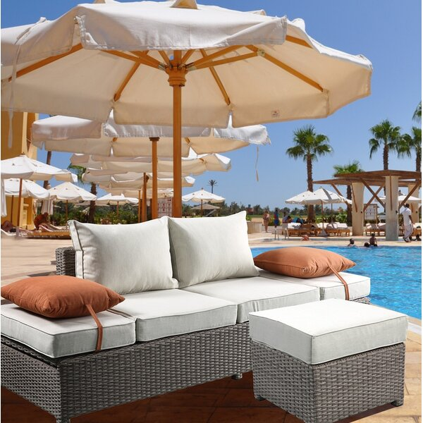 Winebarger Patio Sofa with Cushions by Orren Ellis