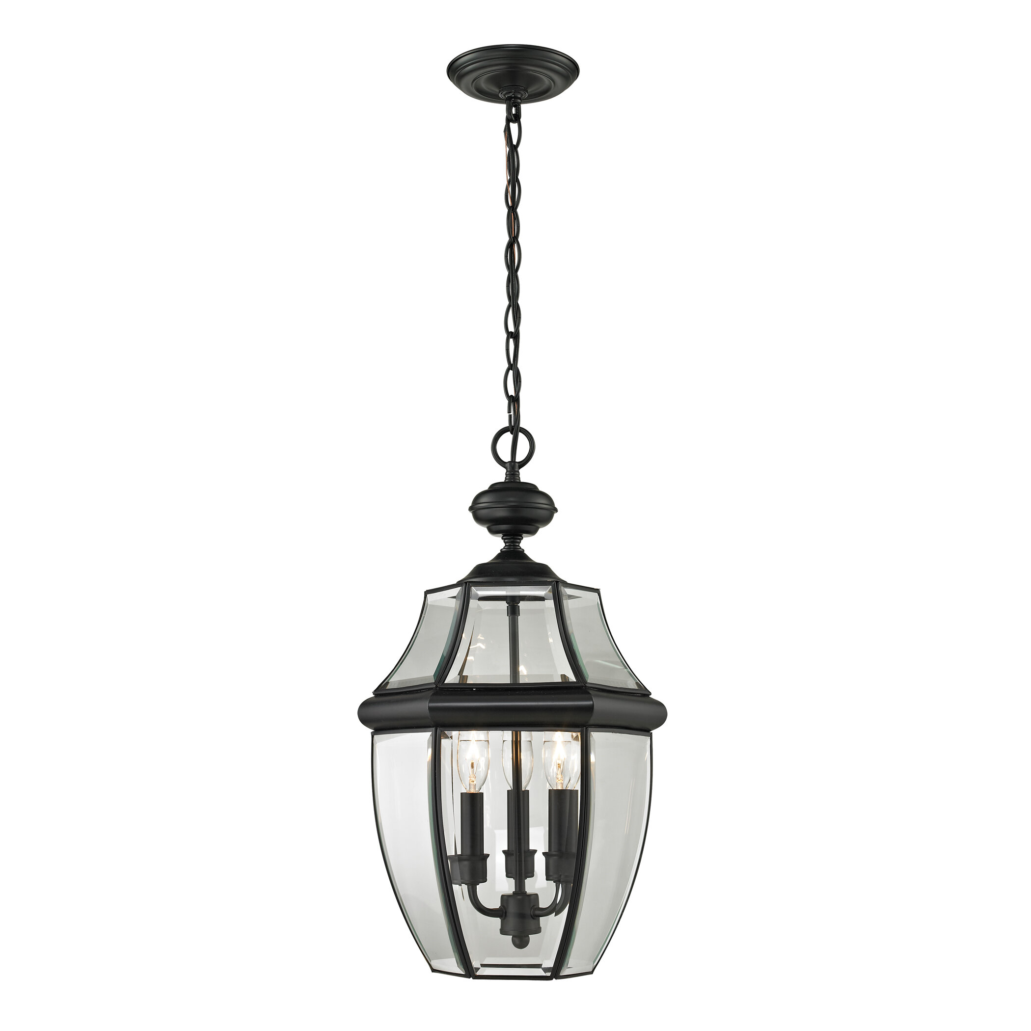 Ashford Large 3 Light Outdoor Hanging Lantern. By Cornerstone Lighting