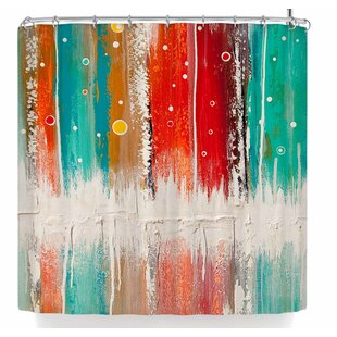 red and turquoise shower curtain. Steven Dix The European Shower Curtain  Wayfair