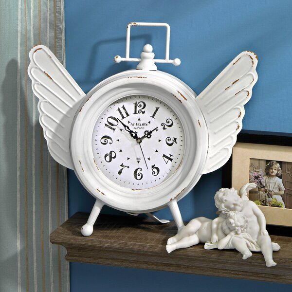 Heavens Halo Angel Wings Clock by Design Toscano