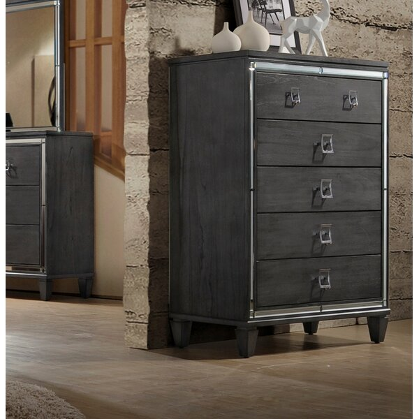 Ezio 5 Drawer Chest by House of Hampton