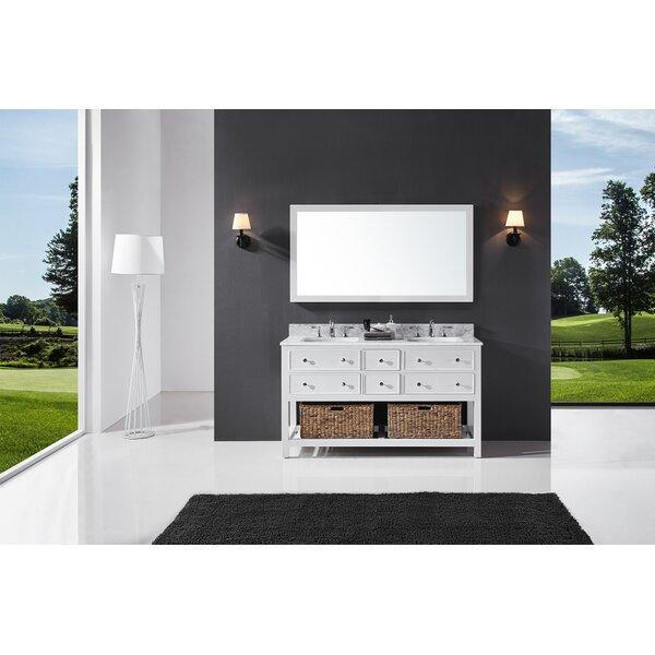 Celestia 60 Double Bathroom Vanity Set with Mirror by Three Posts