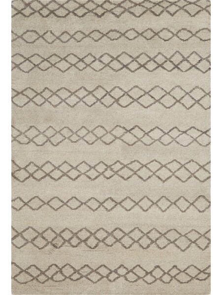 Falmouth Hand-Knotted Natural/Cashmere Area Rug by Bungalow Rose