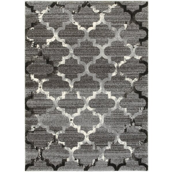 Galloway White/Light Gray Indoor Area Rug by Willa Arlo Interiors