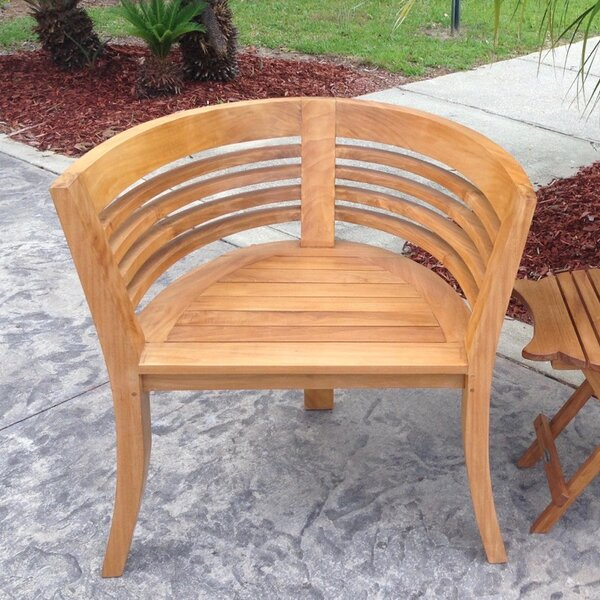 Toby Teak Patio Chair by Rosecliff Heights