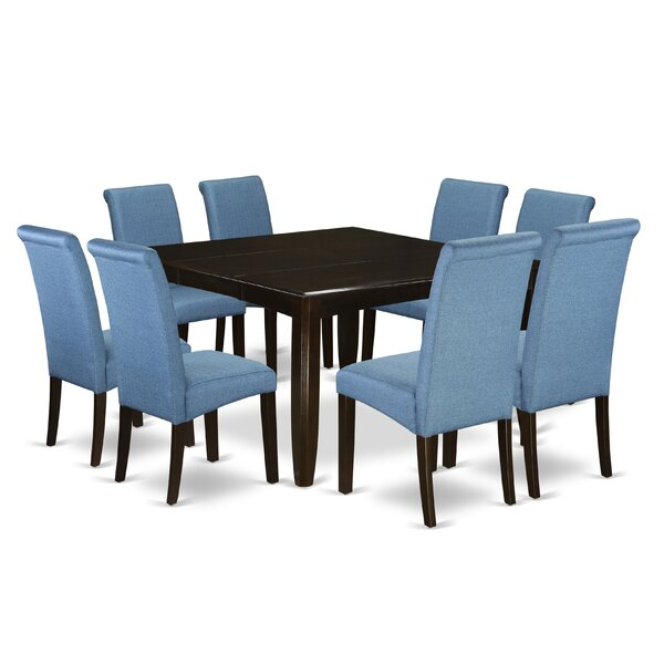 Joselyn Square Kitchen Table 9 Piece Extendable Solid Wood Dining Set by Winston Porter