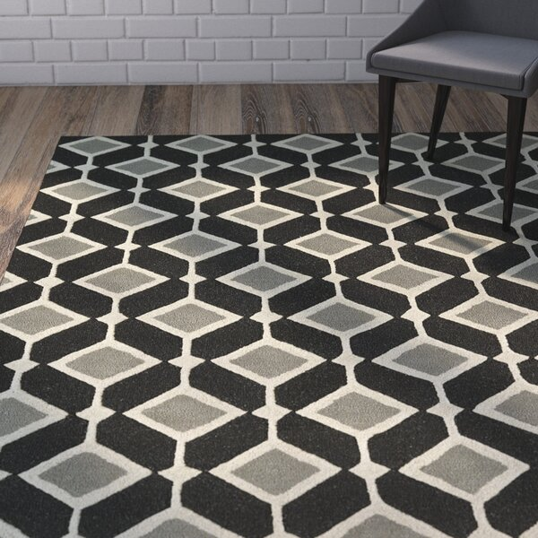 Serpens Handmade Black Area Rug by Wrought Studio