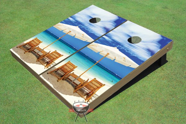 Wonderful Beach Cornhole Board (Set of 2) by All American Tailgate
