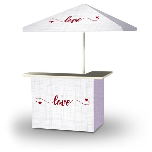 Wodome Valentines Simple Love 2-Piece Home Bar Set by East Urban Home