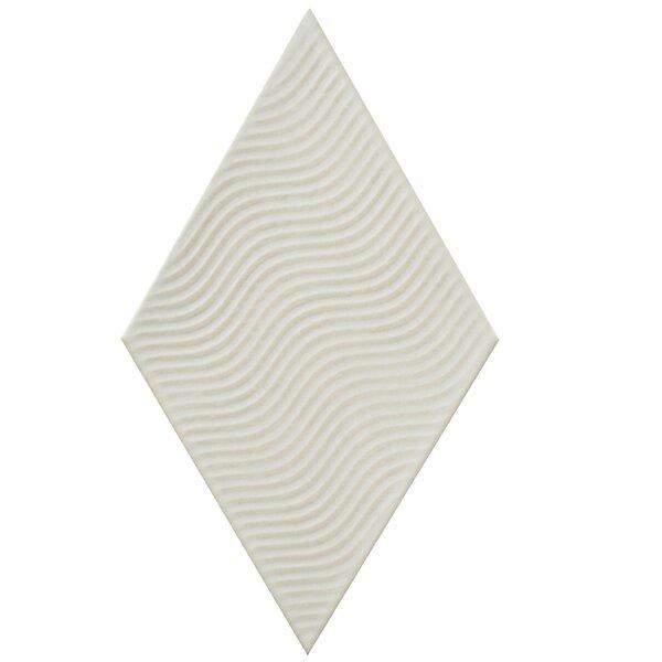 Ronbo 5.5 x 9.5 Porcelain Field Tile in White by EliteTile