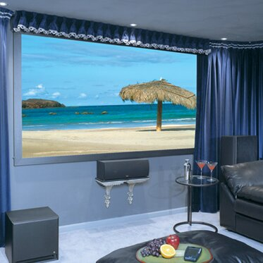 Onyx with Vertex Fixed Frame Projection Screen by Draper