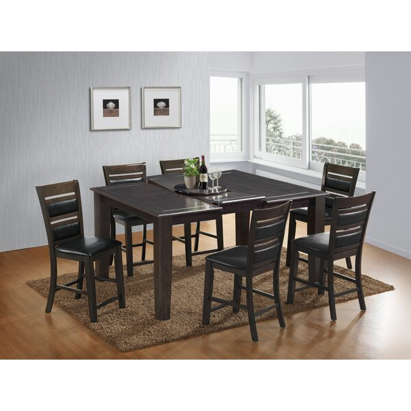 7 Piece Counter Height Dining Set by Best Quality Furniture