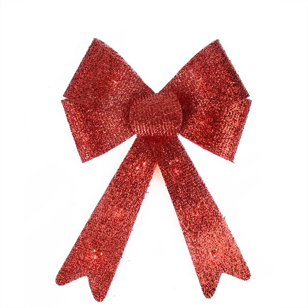 Sparkly Bow Christmas Decoration 10 Lighting Accessory by Northlight Seasonal