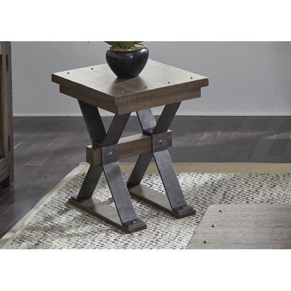 Cleaver End Table by Gracie Oaks