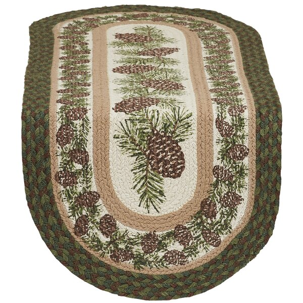 Pinecone Braided Jute Table Runner by The Holiday Aisle