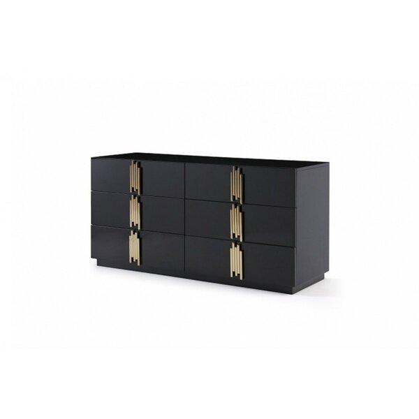 Sandvos 6 Drawer Double Dresser by Everly Quinn