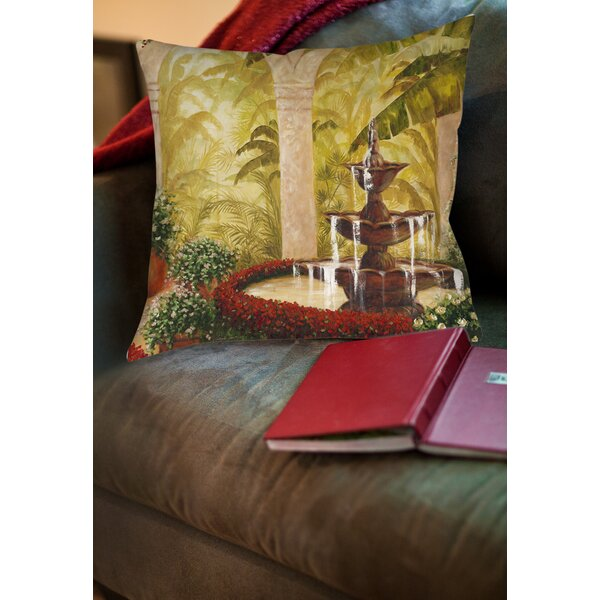 Palm Garden II Printed Throw Pillow by Manual Woodworkers & Weavers