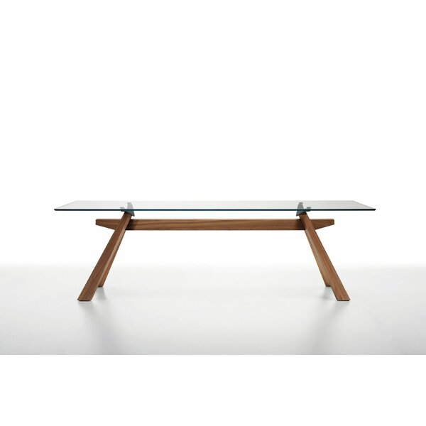 Zeus LG Dining Table with Glass Top by Midj