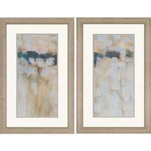 'Carbon Neutral' 2 Piece Framed Painting Print Set (Set of 2) by Mercury Row