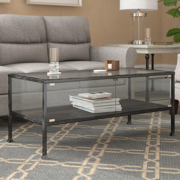 Aldridge Terrarium Coffee Table by Three Posts