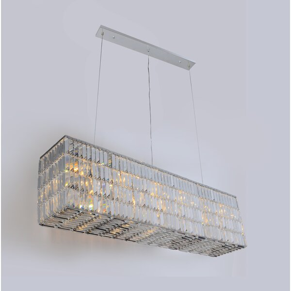 Blalock 6 - Light Unique / Statement Rectangle / Square Chandelier By Mercer41