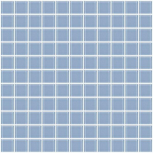 1 x 1 Glass Mosaic Tile in Pale Sky Blue by Susan Jablon