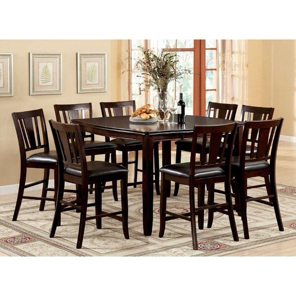 Fritz Jimmy 9 Piece Counter Height Dining Set by Alcott Hill