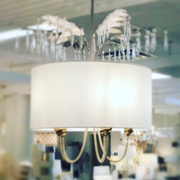Antoinette 5-Light Candle Style Drum Chandelier by Flambeau Lighting Flambeau Lighting