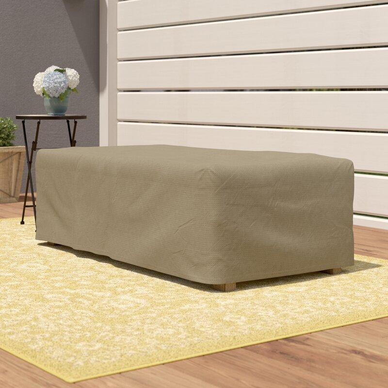 Patio Furniture Side Table Cover: Wayfair Basics™ Wayfair Basics Rectangle Patio Ottoman Or