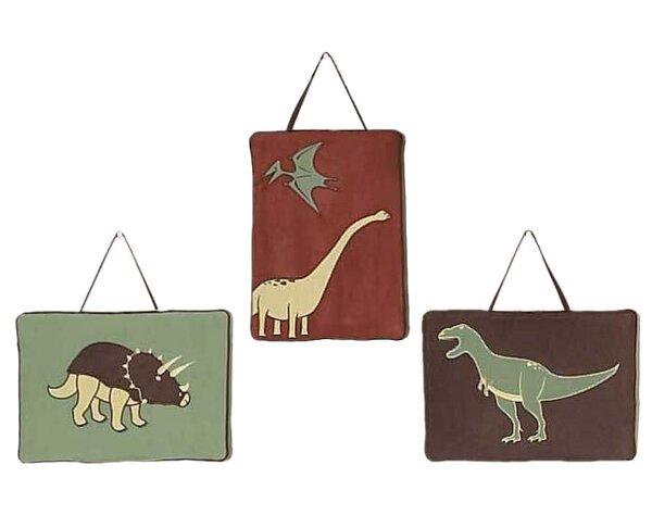 3 Piece Dinosaur Land Wall Hanging Set By Sweet Jojo Designs.