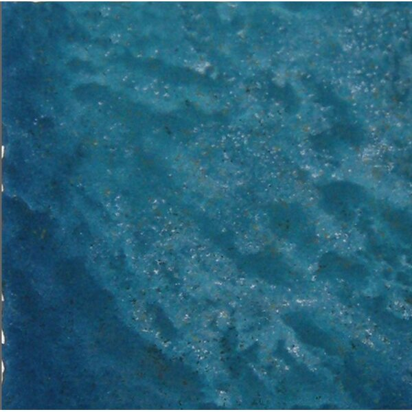 Seabreeze 6 x 6 Porcelain Field Tile in Teal by QDI Surfaces