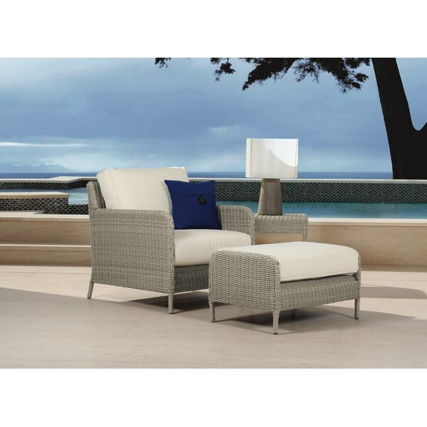 Manhattan Patio Chair with Cushions and Ottoman by Sunset West Sunset West