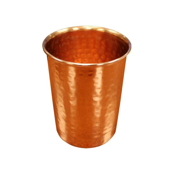 Benigna 16 oz. Copper Every Day Glass (Set of 2) by Mint Pantry