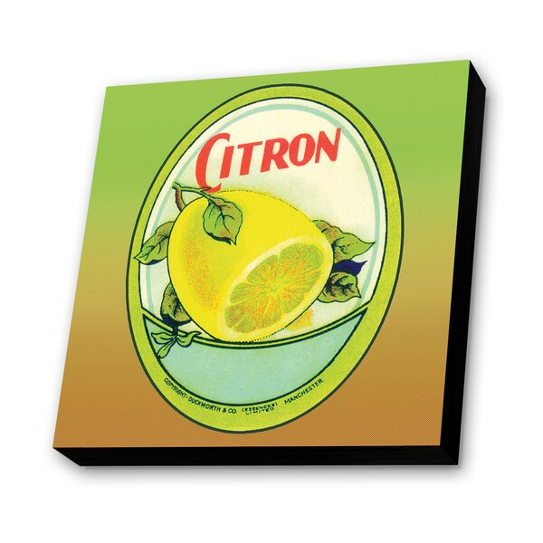 Citron Vintage Advertisement Plaque by Lamp-In-A-Box