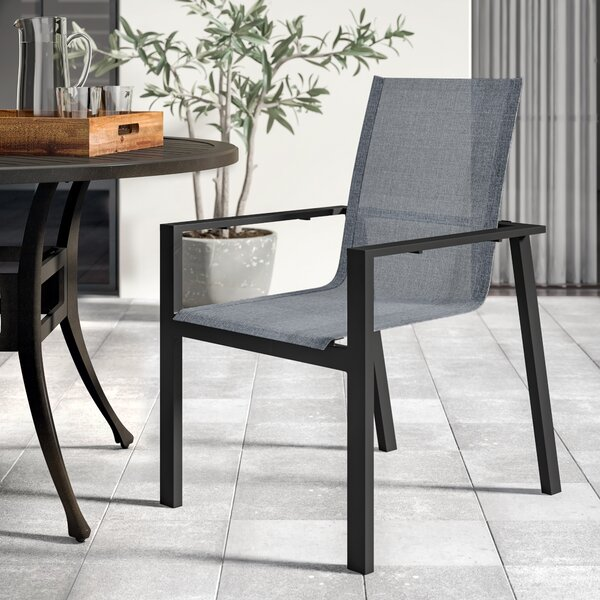Elick Stacking Patio Dining Chair by Greyleigh