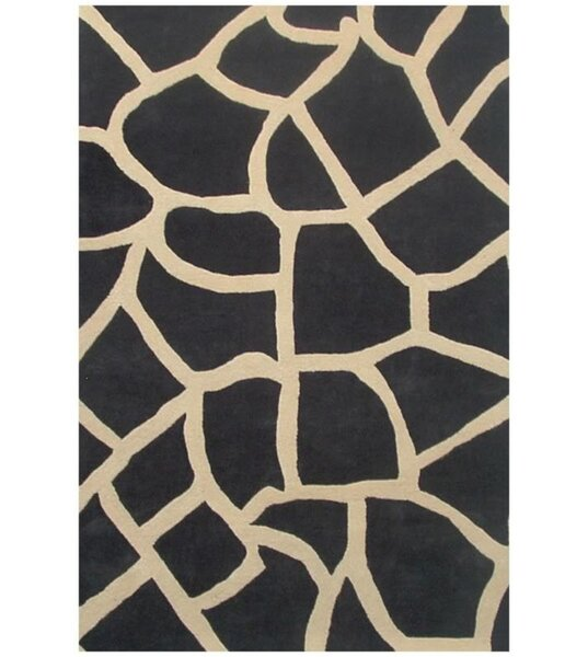 Contempo Black/Beige Area Rug by Acura Rugs