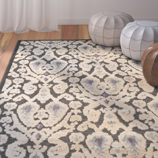 Saint-Michel Anthracite/Anthracite Area Rug by Bungalow Rose