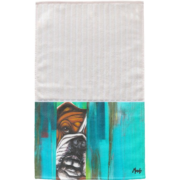 Bulldog Multi Face Cotton Hand Towel (Set of 2) by East Urban Home