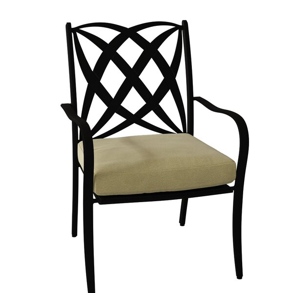 Apollo Patio Dining Chair with Cushion by Woodard