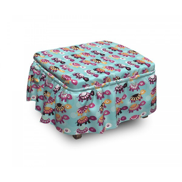 Baby Animals Ethnic Ottoman Slipcover (Set Of 2) By East Urban Home