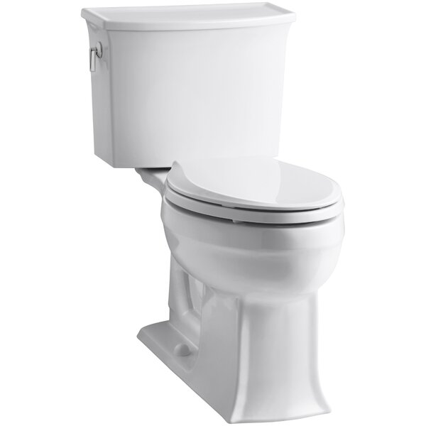 Archer 2 Piece Elongated Toilet with Aquapiston Flush Technology by Kohler