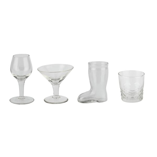 Kiesel 4 Piece Glass Assorted Glassware Set (Set of 2) by Winston Porter