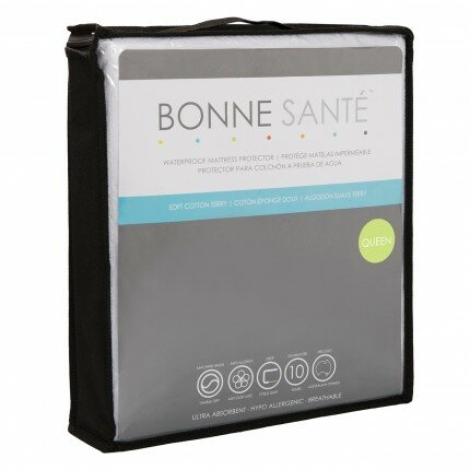 Terry Waterproof Mattress Protector by Bonne Sante