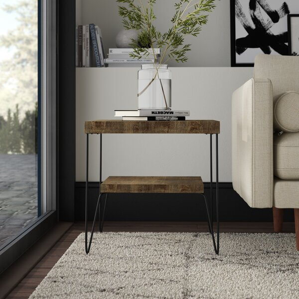 Mcfarlane Square End Table with Shelf by Mercury Row