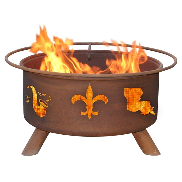 Mardi Gras Steel Wood Burning Fire Pit by Patina Products