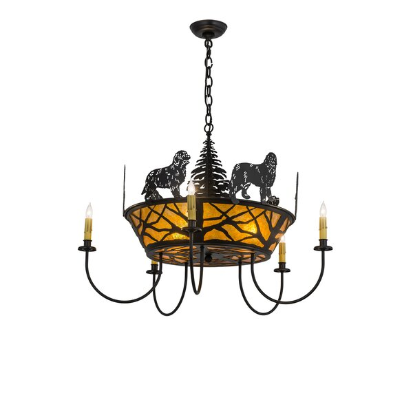 Big Dogs 5 - Light Candle Style Classic / Traditional Chandelier By Meyda Tiffany
