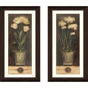 'Petit Jardin I' 2 Piece Framed Acrylic Painting Print Set by Ophelia & Co.