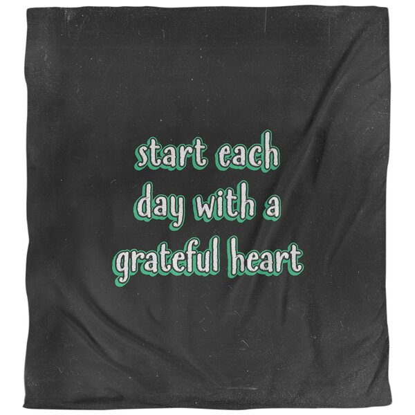 Gratitude Inspirational Quote Single Duvet Cover