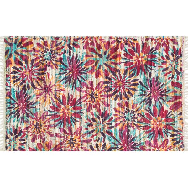 Zabel Ivory/Berry Area Rug by Bloomsbury Market