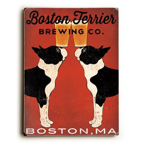Boston Terrier Brewing Co Graphic Art by Artehouse LLC